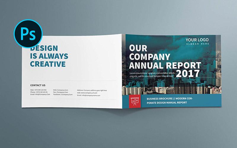 A5 Company Annual Report Brochure Corporate Identity Template