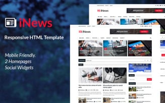 iNews - Responsive Newspaper HTML Website Template