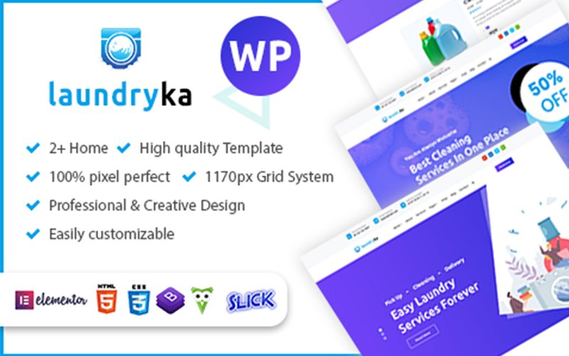 """Laundryka - Dry Cleaning Services"" - адаптивний WordPress шаблон №110675"