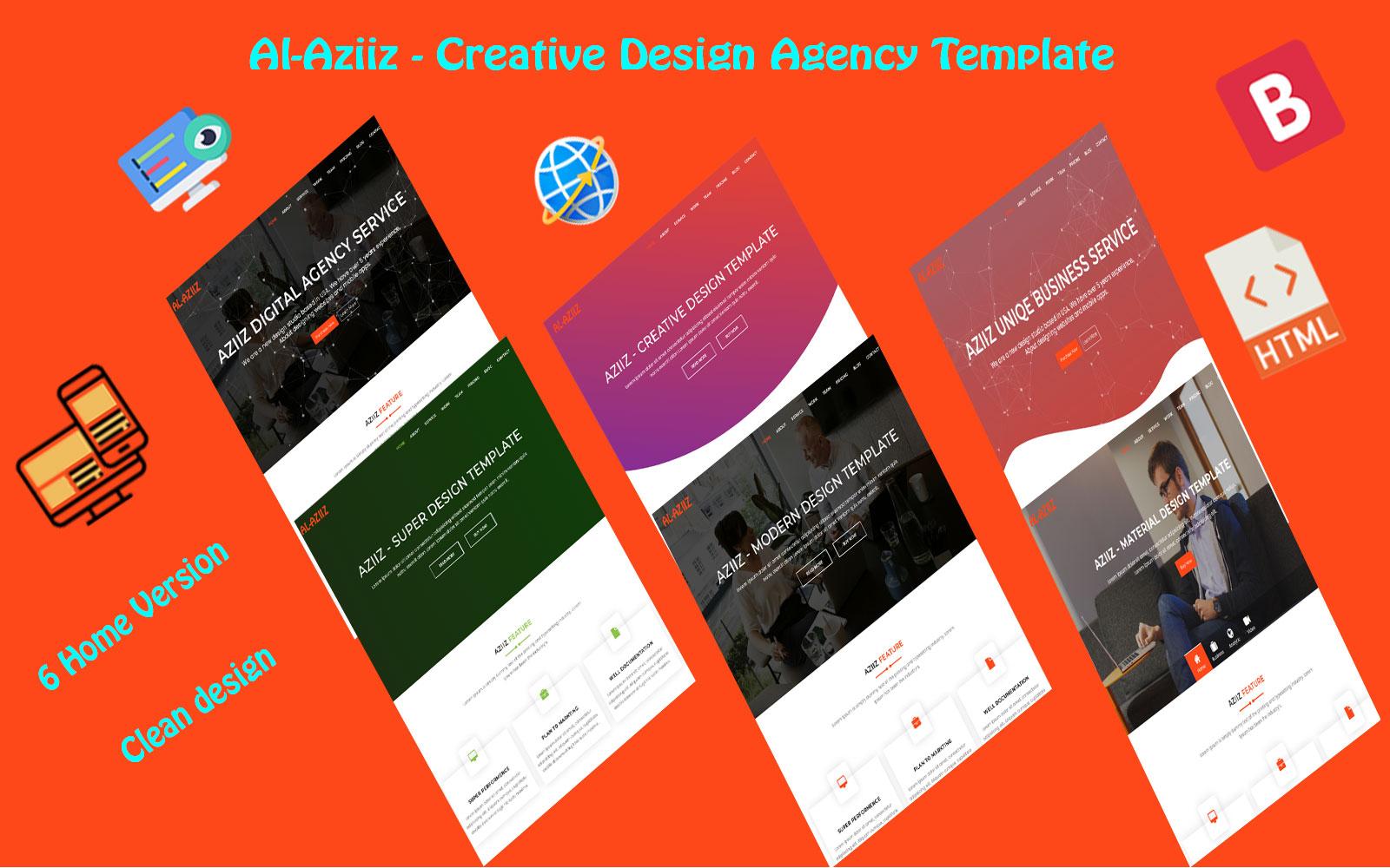 Responsywny szablon Landing Page Al-Aziiz - Creative design Agency #110680
