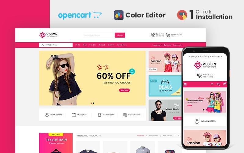 """Responzivní OpenCart šablona """"Trendy Fashion Store"""" #110678"""