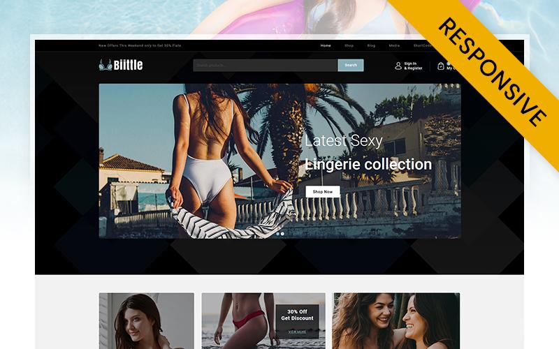 """Biittle - Lingerie Store"" - адаптивний WooCommerce шаблон №110760"