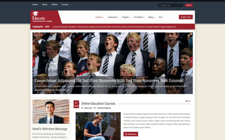 Educate Education Joomla Template