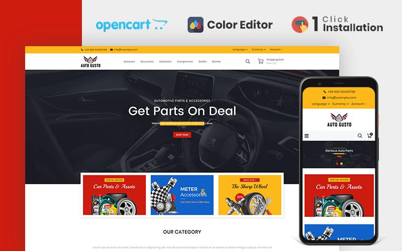 """Responzivní OpenCart šablona """"Autogusto Parts Store"""" #110763"""