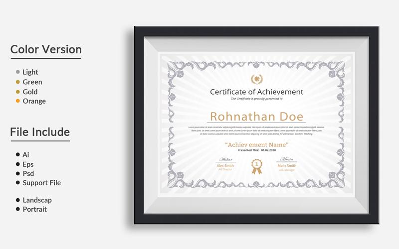 Szablon certyfikatu Clean 03 #110767