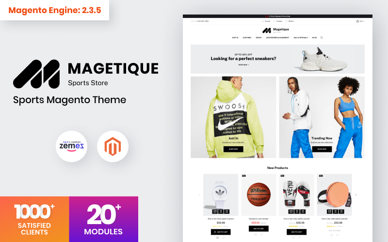 Magetique - Sports Store Magento 2 Theme Magento Theme