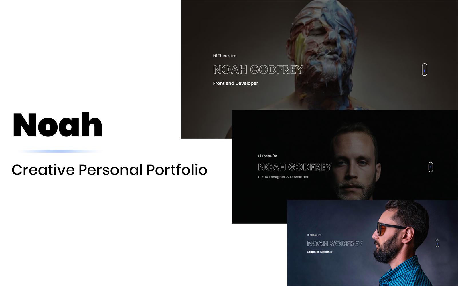 Noah - creative personal portfolio Landing Page Template