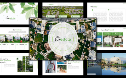 Luxestate - Real Estate Agency PowerPoint Template