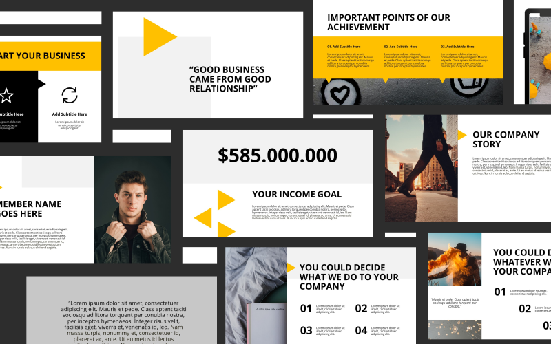 Business Talk Presentation PowerPoint Template