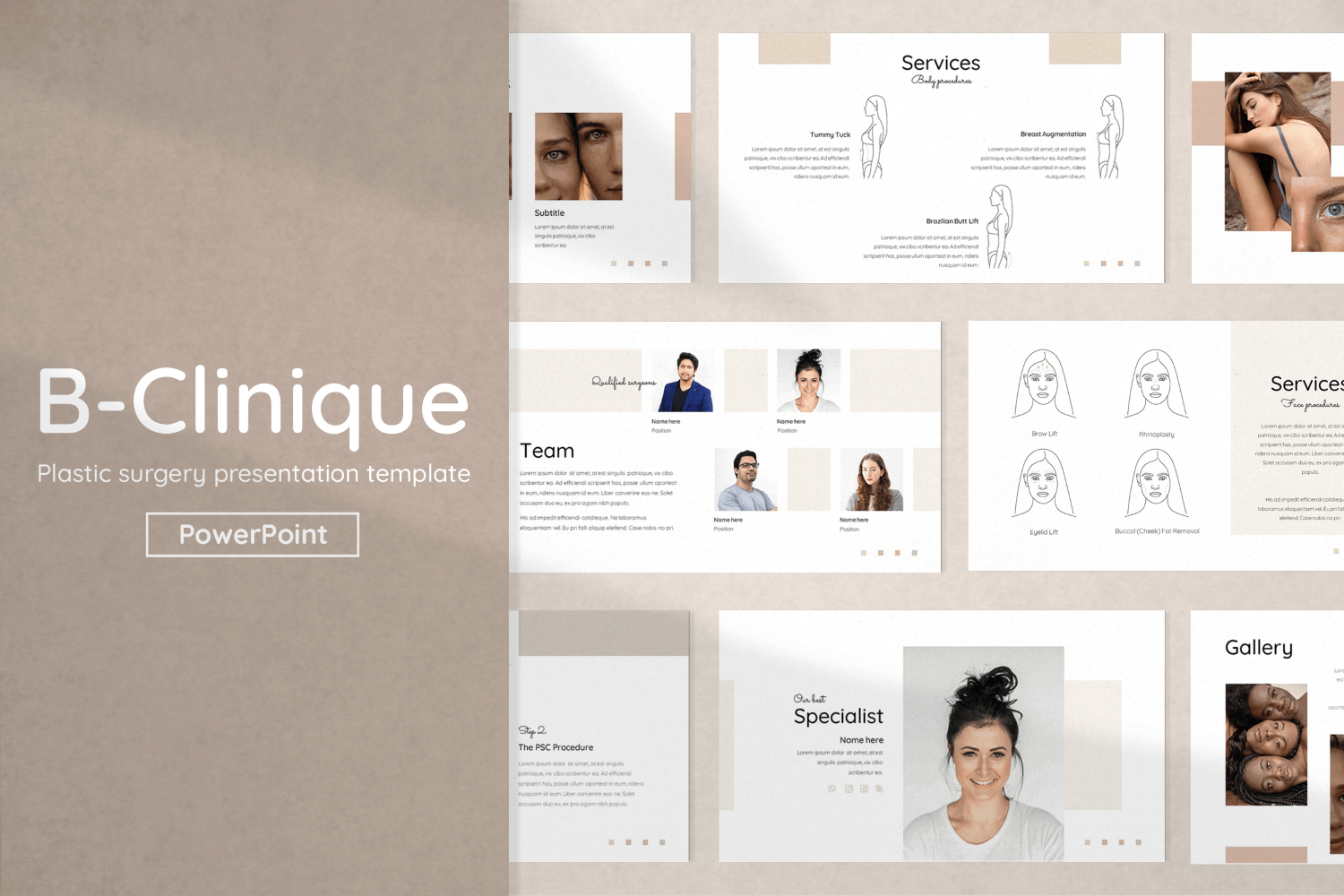Plastic Surgery Presentation PowerPoint Template