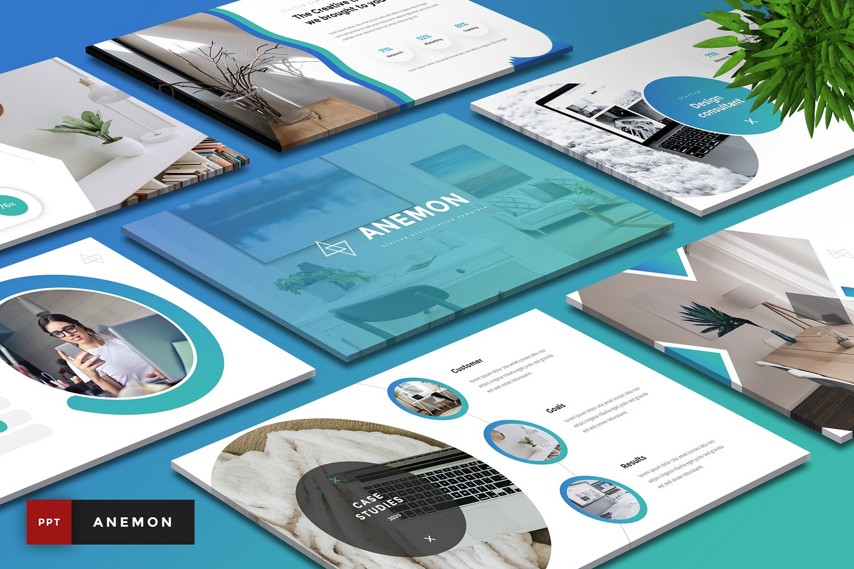 """Anemon - StartUp"" modèle PowerPoint  #110950"