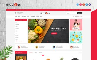 Gracious - Grocery OpenCart Template