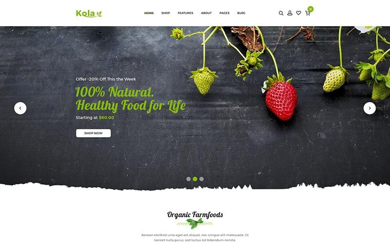 """Kalo - Health & Organic"" thème Shopify adaptatif #110969"