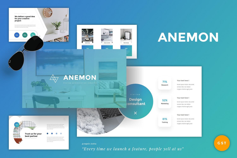 """Modello Google Slides #110921 """"Anemon - StartUp"""""""
