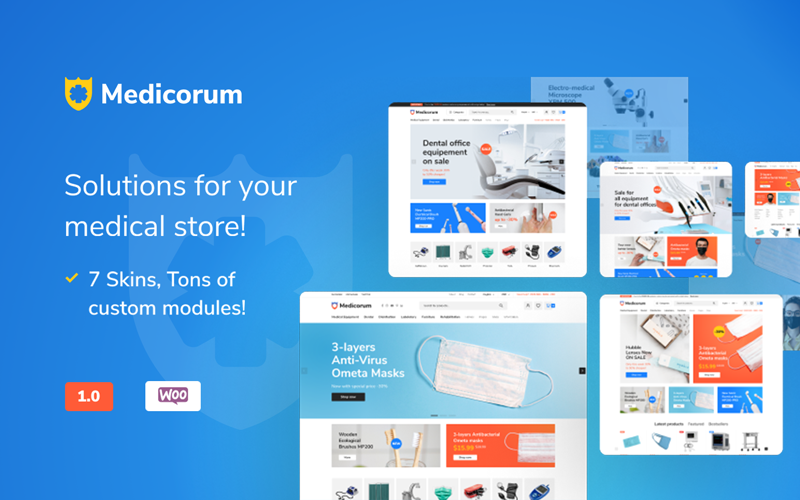 Motyw WooCommerce Medicorum - Medical Store #110973