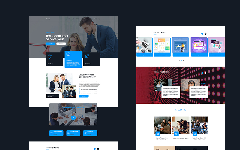 Rioxe - Consultant & IT Solution PSD PSD Template