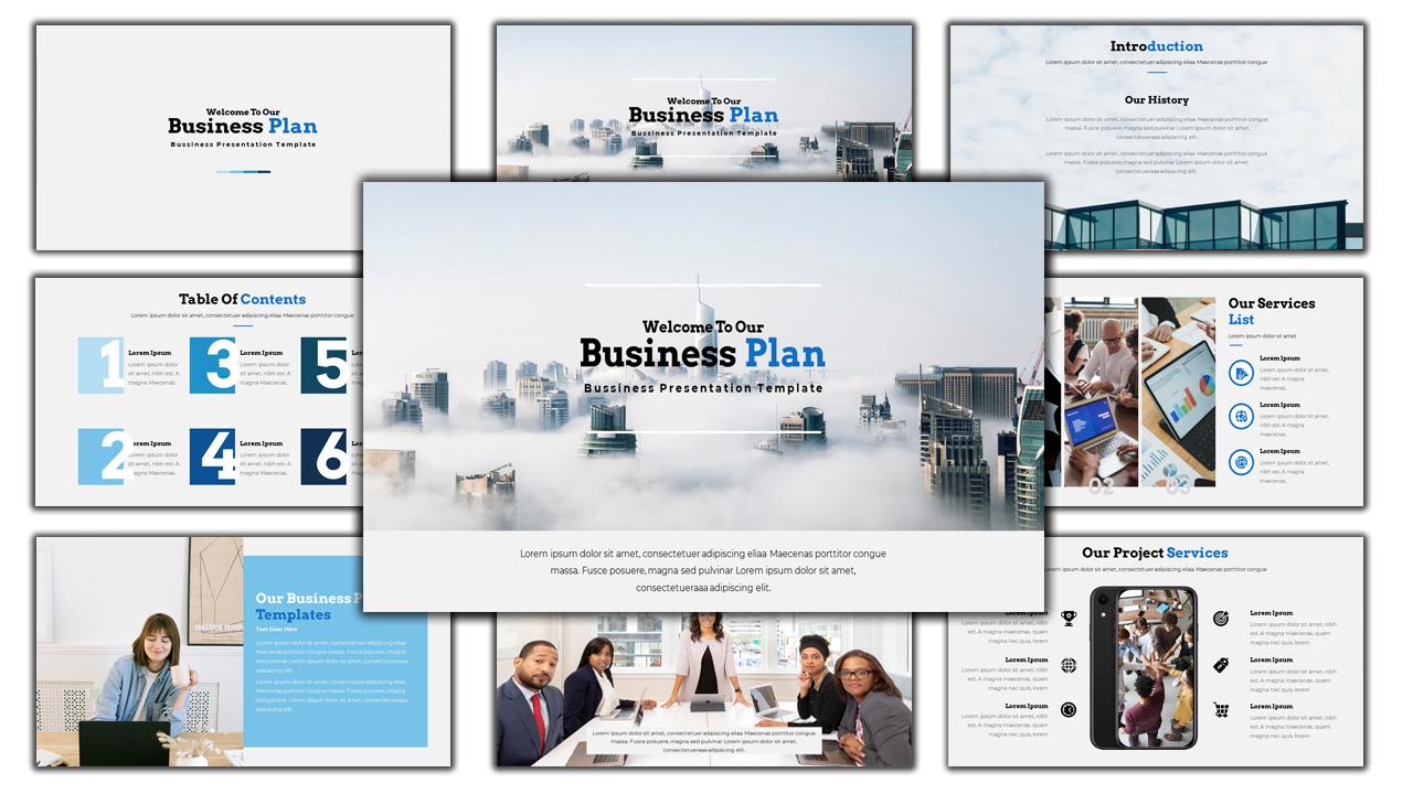 "Template PowerPoint #110983 ""Business Plan - Creative Business Plan"""