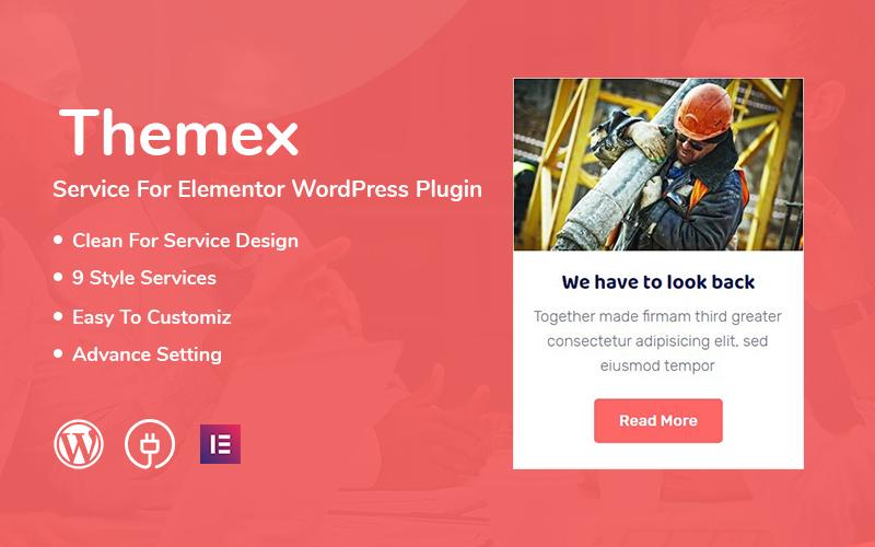 """Themex Service For Elementor"" - bootstrap WordPress плагін №110908"