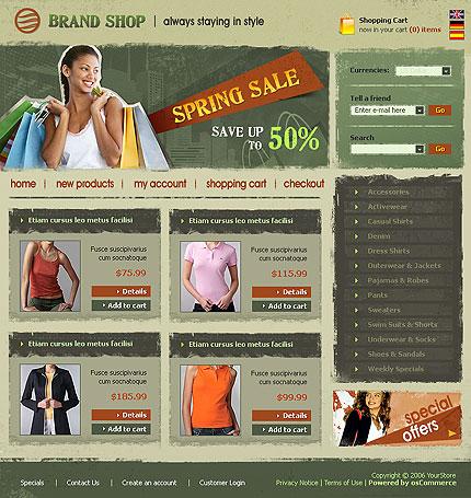11117 osc b Free osCommerce Templates