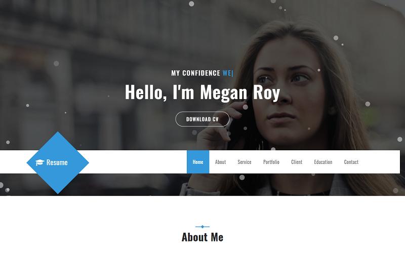 Resume - Cv  HTML5 Landing Page Template
