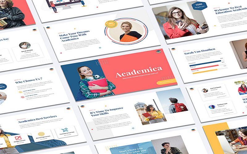 Academica - Education Courses PowerPoint Template