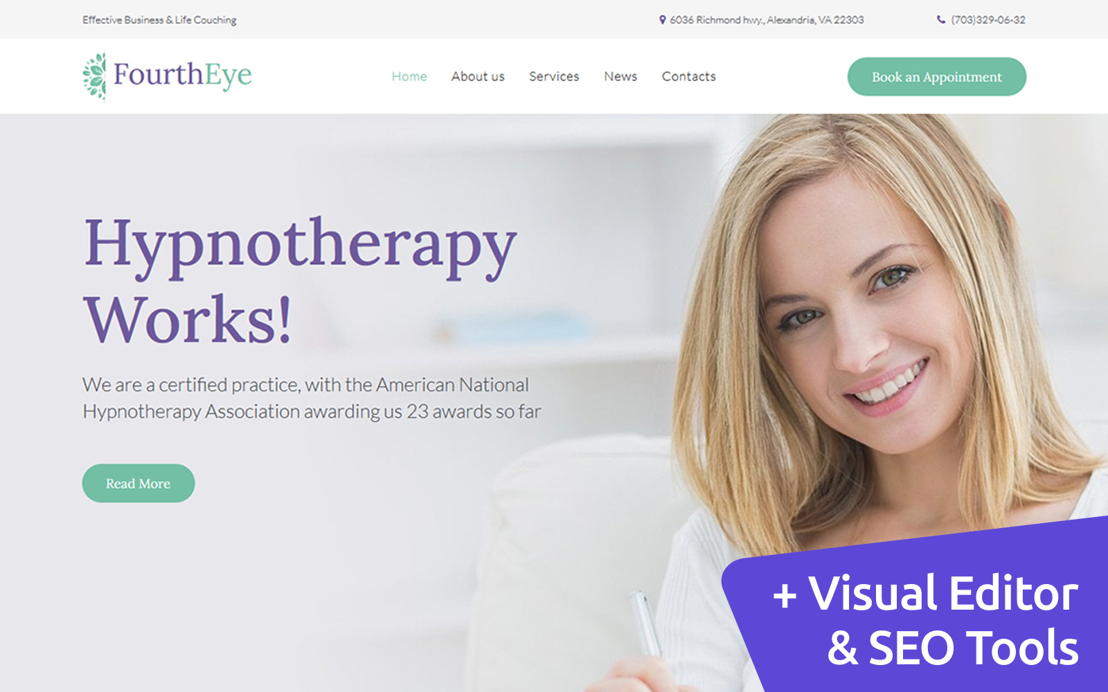 "Plantilla Moto CMS 3 ""FourthEye - Therapy Services"" #111233"