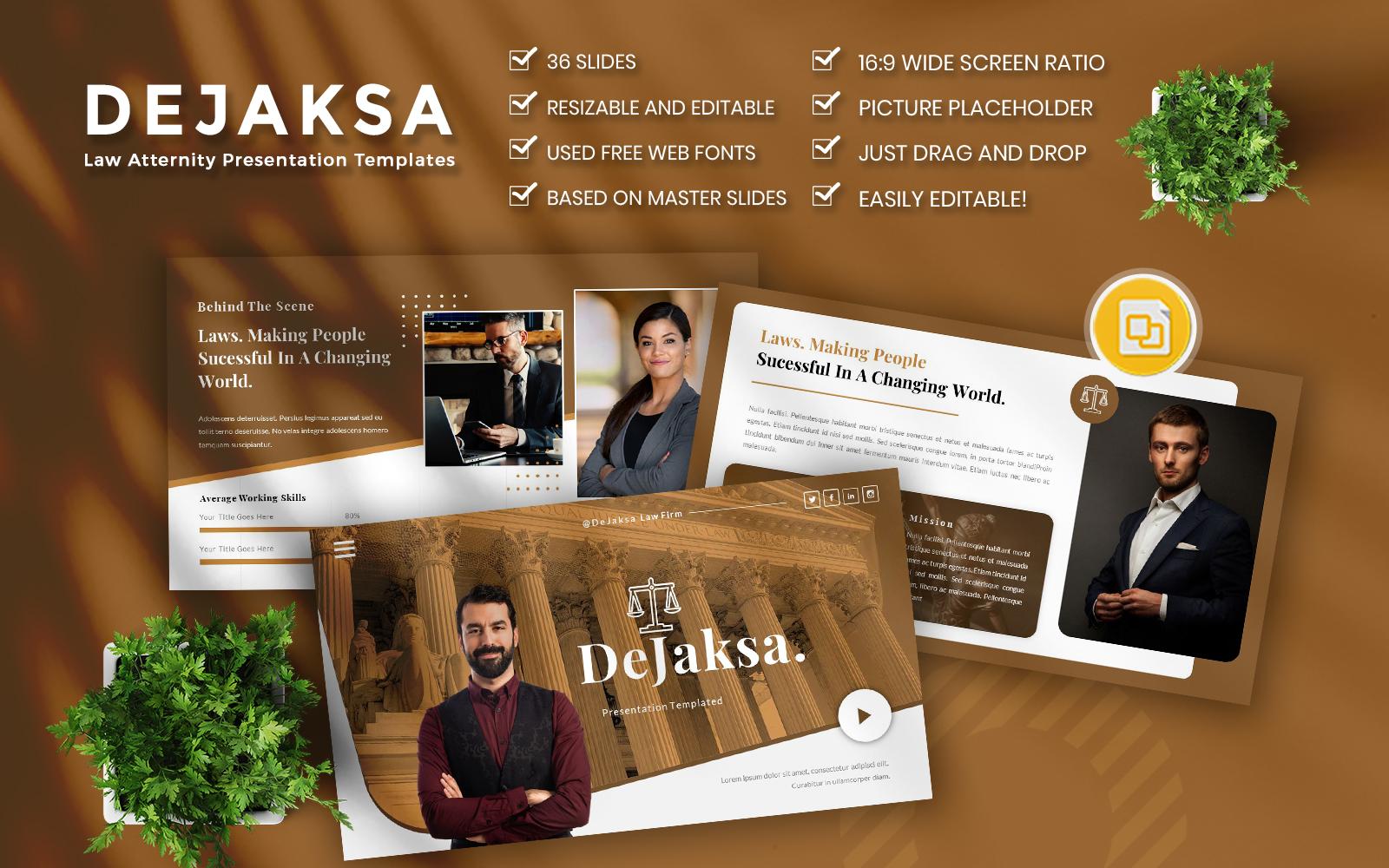 """""""Dejaksa-Law atternity Business Google Slides"""" Google Slides №111478"""