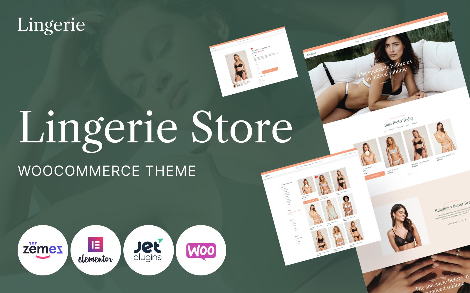 """Lingerie - Lingerie"" - WooCommerce шаблон №111571"