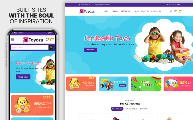 "Tema Shopify ""Toyoza - The Kids toys store"" #111569"