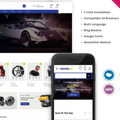 "WooCommerce Theme namens ""Drivingaid - The Automobile Store Responsive"" #111566"