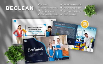 Beclean - Cleaning Services Business Google Slide