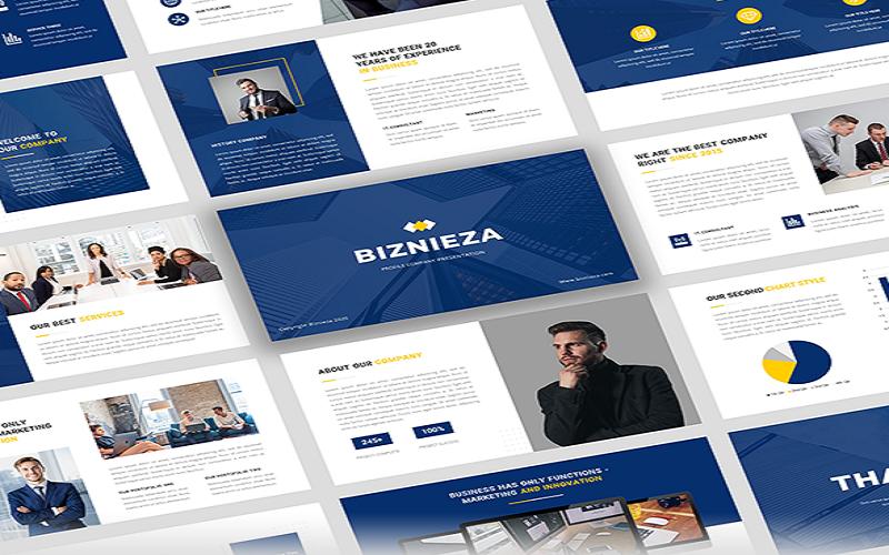 """""""Biznieza - Company Profile Presentation Google Slides"""" Google Slides №111713"""