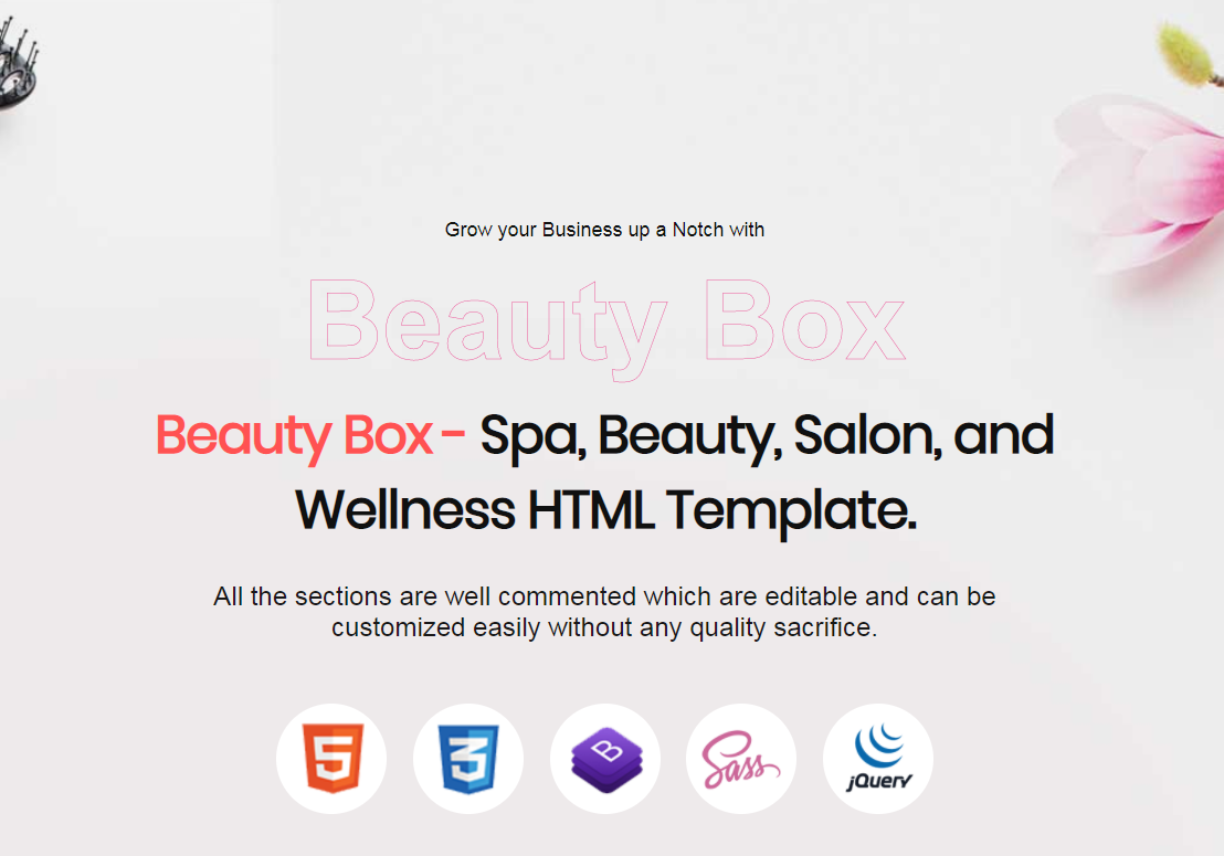 BeautyBox - Spa, Beauty, Salon and Wellness Landing Page Template