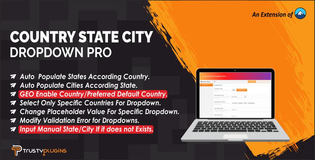 Wtyczka WordPress Country State City Dropdown PRO #111843