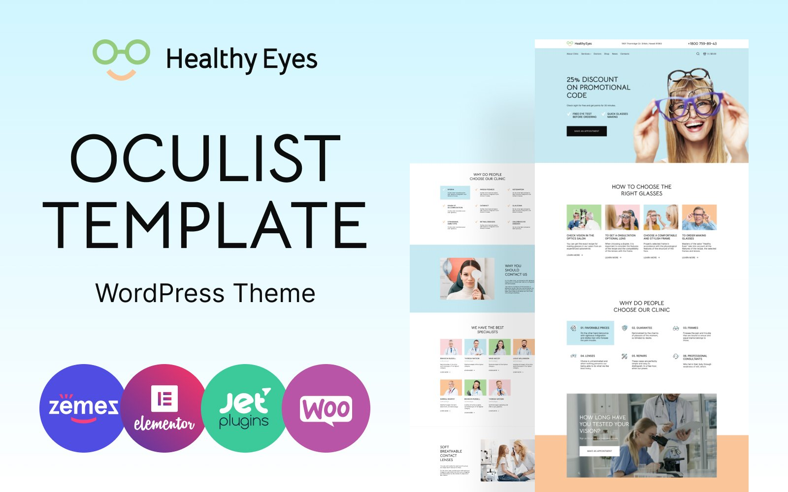 HealthEyes - Optician WooCommerce Theme
