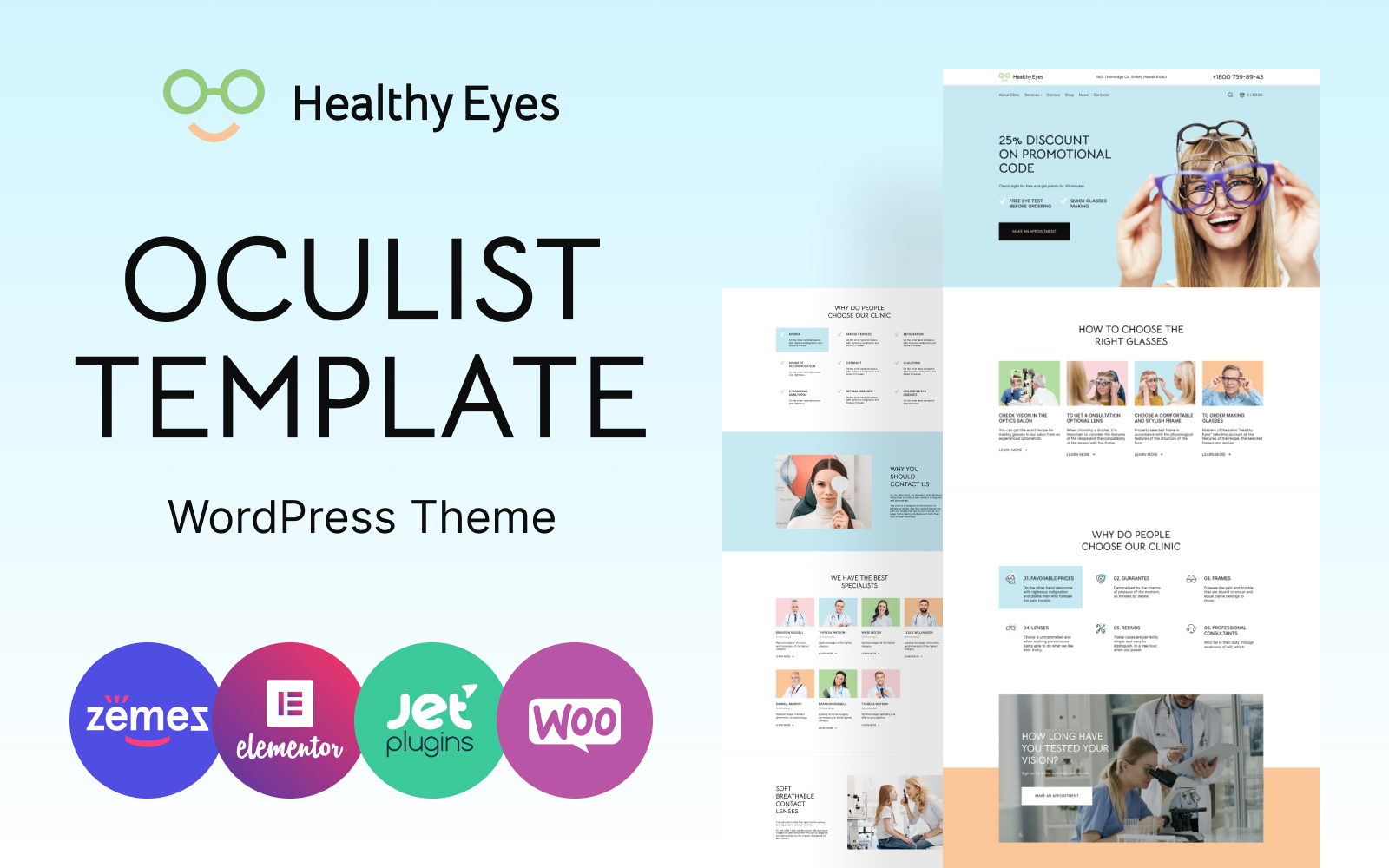 Responsywny motyw WooCommerce HealthEyes - Optician #111921