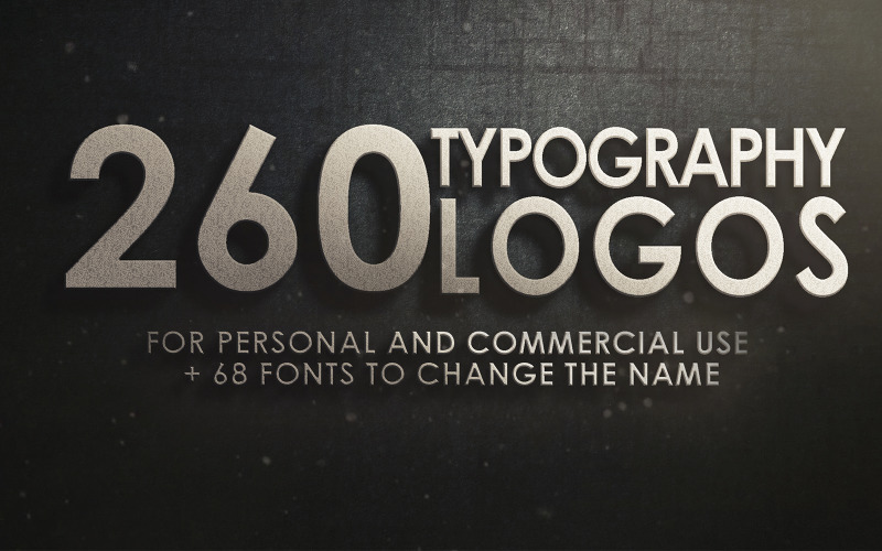 260 Typography Logo Template