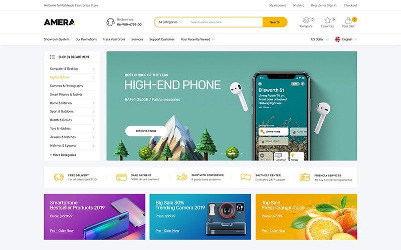 """""""Amira - Gadgets &Digital Responsive"""" thème Shopify adaptatif #112008"""