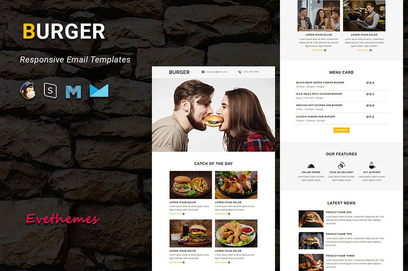 BURGER - Responsive Email Newsletter Template