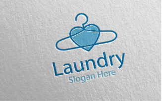 Love Laundry Dry Cleaners 47 Logo Template