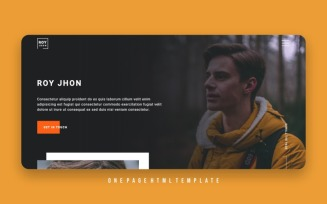 Royjhon - Personal Html Portfolio Landing Page Template