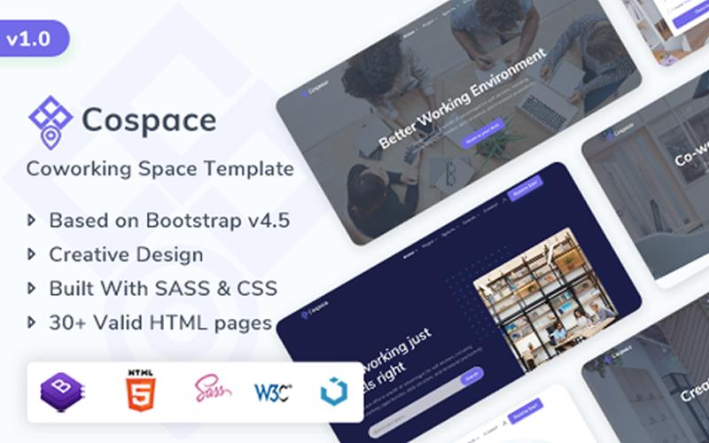 Cospace - Coworking & Rental Space Website Template
