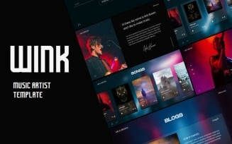 Music Artist and Singer By WINK Website Template