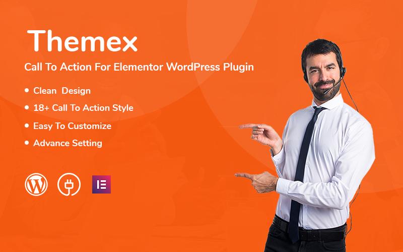Responsywny wtyczka WordPress Themex Call To Action For Elementor #112216