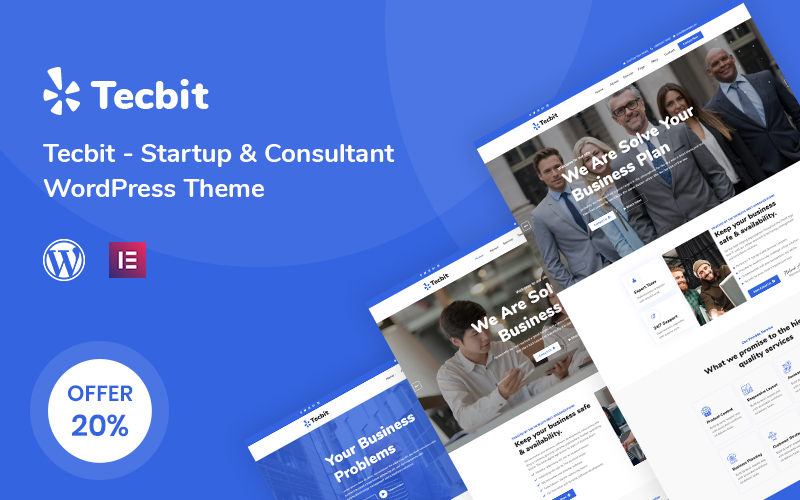 Tecbit - Responsive Startup and Consultant WordPress Theme