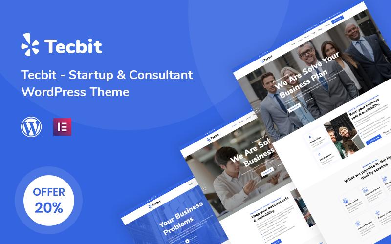 "Tema De WordPress ""Tecbit - Responsive Startup and Consultant"" #112223"