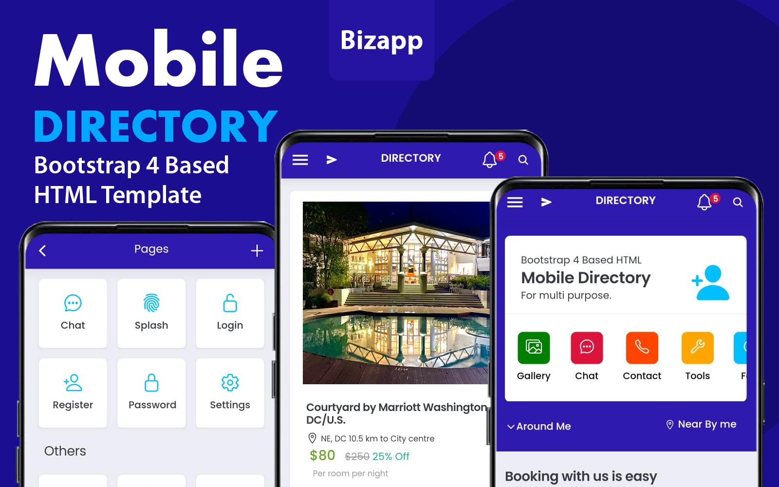 Html Mobile App for Multi Purpose №112456