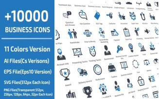 10000 Business Template Iconset
