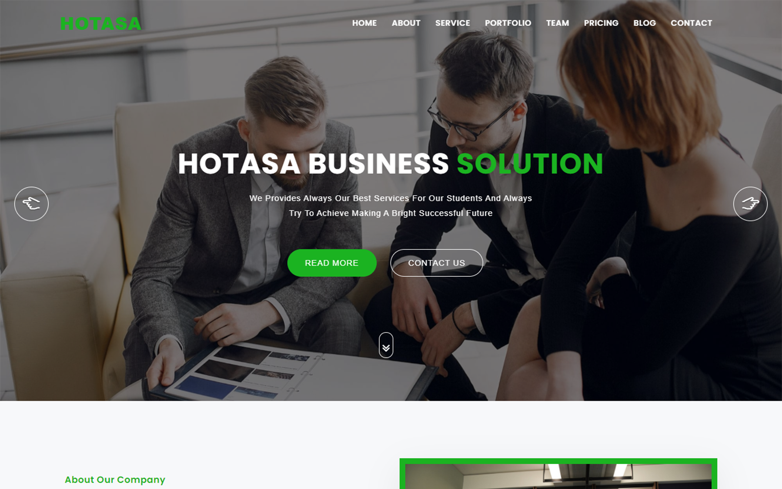 Hotasa Consulting & Business Landing Page Template
