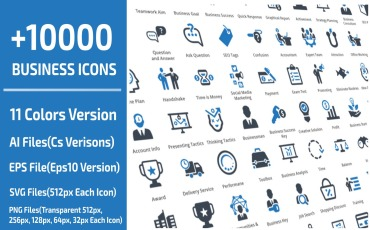 10000 Business Icon Set